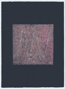 Champagne Pink Collagraph with Chine-collé