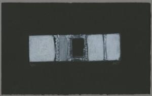 Fenestella-carborundum-mini-textured-embossed-black-white-grey-windowy-abstract-Deborah-Treliving-contemporary-British-artist