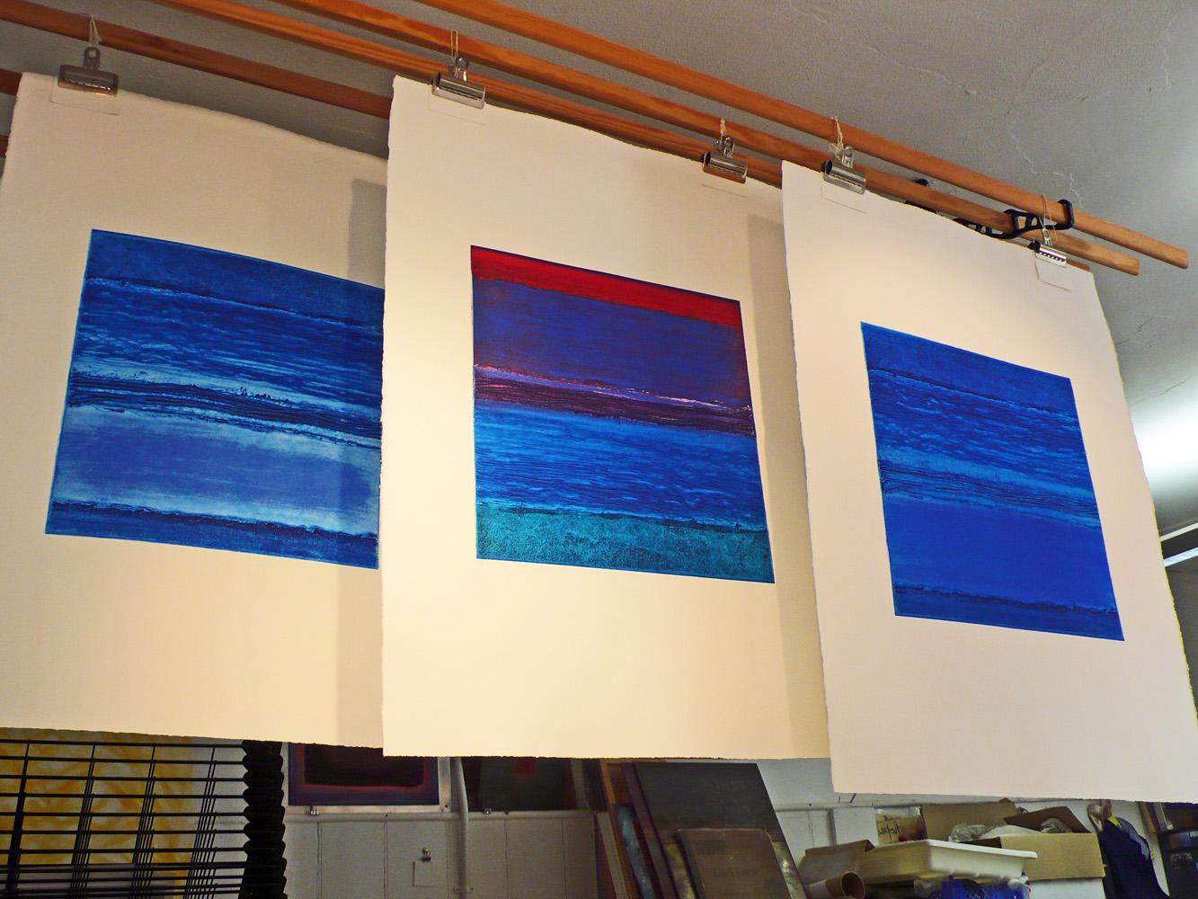 Land-sea-sky-carborundum-prints-Deborah-Treliving-contemporary-British-artist