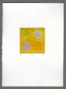 Lilac-edition-carborundum-mini-textured-embossed-lilac-golden-lime-green-duck-egg-blue-abstract-Deborah-Treliving-contemporary-British-artist