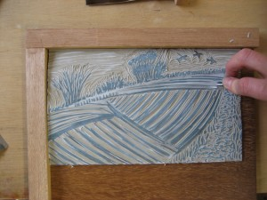 Lino-cutting-relief-landscape-deborah-treliving-contemporary-British-artist
