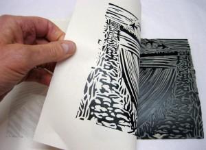 Lino-printing-relief-landscape-deborah-treliving-contemporary-British-artist