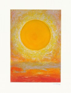 Sunrise-greeting-card-A5-cheerful-bright-greetings-card-seascape-Deborah-Treliving-contemporary-British-artist