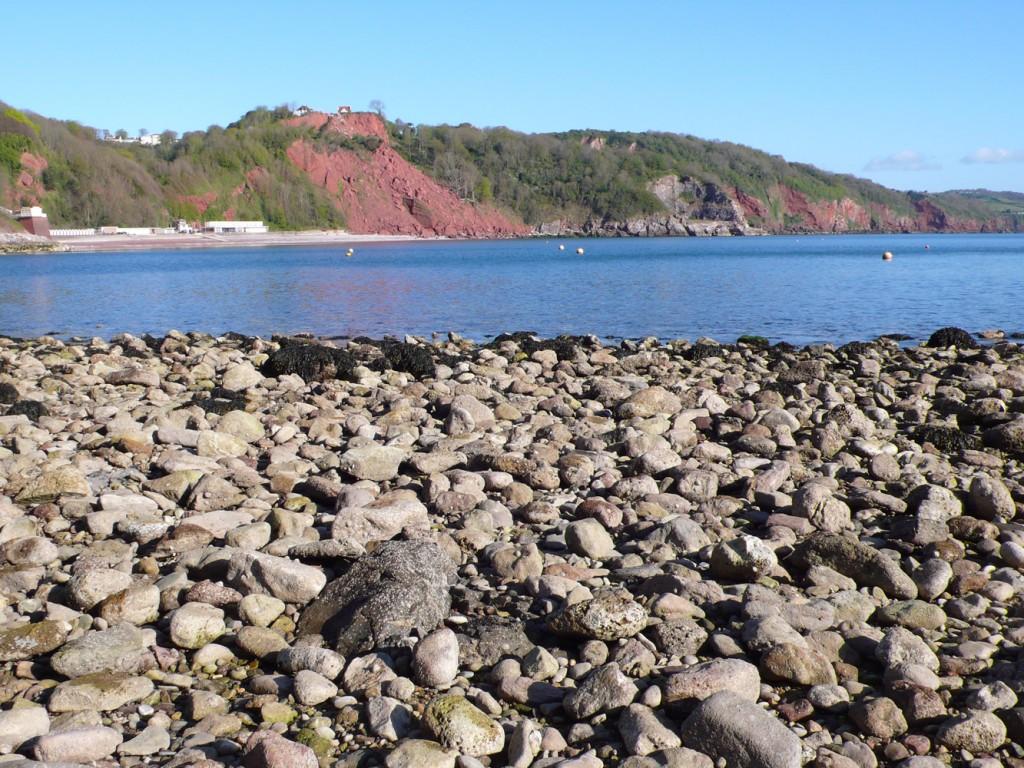 Rock-fall-Oddicombe-beach-from-Babbacombe-beach-Deborah-Treliving-contemporary-British-artist