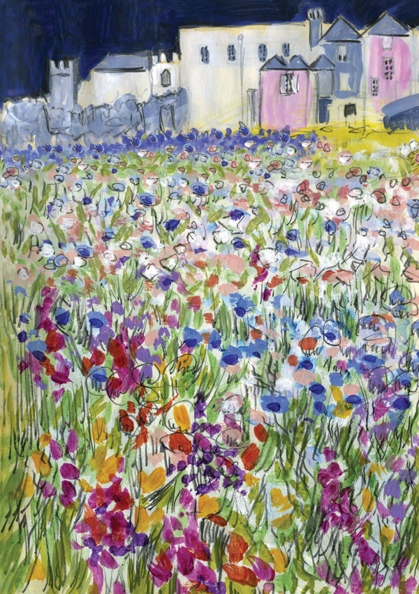 Wild-Flower-Meadow-Torre-Abbey-greeting-card-A5-cheerful-pretty-greetings-card-garden-landscape-Deborah-Treliving-contemporary-British-artist